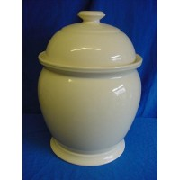 1869 VICTORIAN POTTERY BREAD CROCK