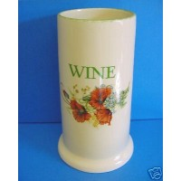 KERNEWEK POTTERY POPPY DESIGN WINE COOLER