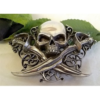 ALCHEMY GOTHIC DESIGNS BELT BUCKLE – LETTER OF MARQUE