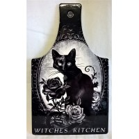 ALCHEMY GOTHIC DESIGNS CERAMIC TRIVET – WITCHES KITCHEN & BLACK CAT