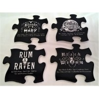 ALCHEMY GOTHIC DESIGNS CERAMIC COASTERS – GOTHIC COCKTAIL JIGSAW SET