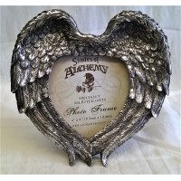 ALCHEMY GOTHIC DESIGNS PHOTO FRAME – WINGED HEART (Wings Closed)