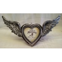 ALCHEMY GOTHIC DESIGNS PHOTO FRAME – WINGED HEART (Wings Open)