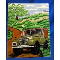 BENAYA TUBELINED PORCELAIN TILE PLAQUE – LAND ROVER