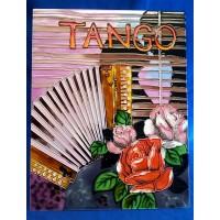 BENAYA TUBELINED PORCELAIN TILE PLAQUE – TANGO