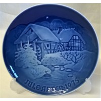 BING & GRONDAHL COPENHAGEN PLATE – CHRISTMAS 1975 – CHRISTMAS AT THE OLD WATER-MILL (id: B)