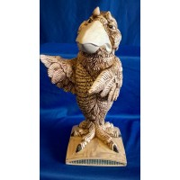 BURSLEM POTTERY GROTESQUE BIRD FLASK - THE DEFENDER - ONE OFF TRIAL COLOURWAY