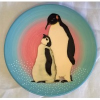 DENNIS CHINAWORKS PENGUIN PLATE