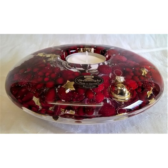 Gilde Dreamlight Candle Holder Christmas Berries