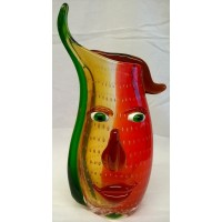 GILDE ART GLASS PICASSO STYLE VASE - MUSETTO