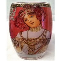 GOEBEL ALPHONSE MUCHA FOUR SEASONS ROUND TEA LIGHT CANDLE HOLDER – 7151 AUTUMN