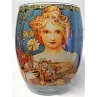 GOEBEL ALPHONSE MUCHA FOUR SEASONS ROUND TEA LIGHT CANDLE HOLDER – 7131 SPRING