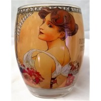 GOEBEL ALPHONSE MUCHA FOUR SEASONS ROUND TEA LIGHT CANDLE HOLDER – 7141 SUMMER