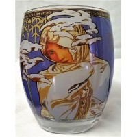 GOEBEL ALPHONSE MUCHA FOUR SEASONS ROUND TEA LIGHT CANDLE HOLDER – 7161 WINTER