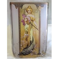 GOEBEL ALPHONSE MUCHA FOUR SEASONS SQUARE TEA LIGHT CANDLE HOLDER - 8516 SPRING