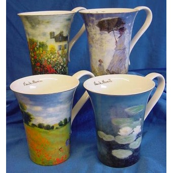 GOEBEL CLAUDE MONET MUGS – SET OF FOUR