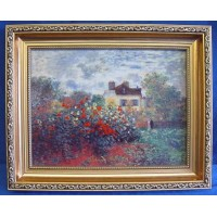 GOEBEL CLAUDE MONET PORCELAIN PLAQUE – THE ARTIST'S HOUSE