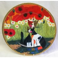 GOEBEL ROSINA WACHTMEISTER CAT DESIGN LIMITED EDITION 32cm PLATE – NICO E NICOLA