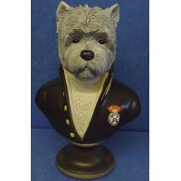 GOEBEL THIERRY PONCELET ARISTO DOG BUST - THE ACADEMICIAN