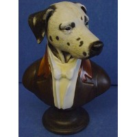 GOEBEL THIERRY PONCELET ARISTO DOG PORCELAIN BUST - THE DUKE OF DALMATIA