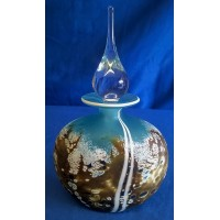 MARTIN ANDREWS ART GLASS PERFUME BOTTLE – BEACH DESIGN – FLAT OVAL 150ml