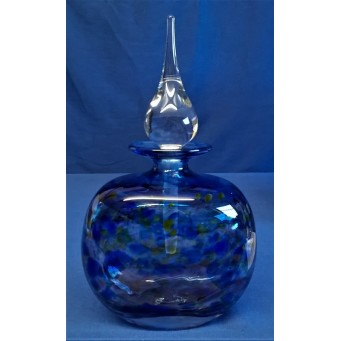 MARTIN ANDREWS ART GLASS PERFUME BOTTLE – HAZE DESIGN – FLAT OVAL 150ml