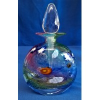 MARTIN ANDREWS ART GLASS PERFUME BOTTLE – SALSA DESIGN – FLAT OVAL 150ml