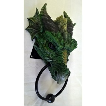 NEMESIS NOW DOOR KNOCKER – GREEN DRAGON – KRYST