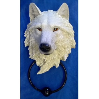 NEMESIS NOW DOOR KNOCKER – WOLF – LIGHT GUARDIAN