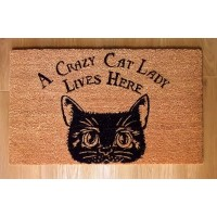 NEMESIS NOW DOORMAT – A CRAZY CAT LADY LIVES HERE
