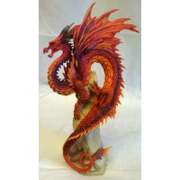 NEMESIS NOW ANDREW BILL DRAGON FIGURE – RUBY SENTINEL