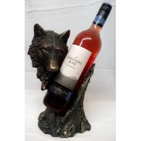 NEMESIS NOW WOLF WINE BOTTLE HOLDER – CALL OF THE WINE