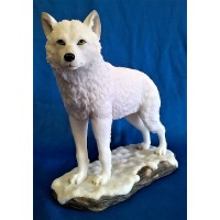 NEMESIS NOW WOLF FIGURE – WINTER SPIRIT