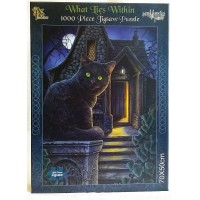 NEMESIS NOW JIGSAW PUZZLE - BLACK CAT - WHAT LIES WITHIN