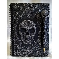 NEMESIS NOW SKULL NOTEBOOK OR JOURNAL – BAROQUE PINHEAD SKULL DESIGN