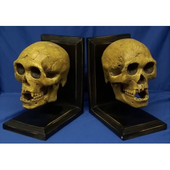 NEMESIS NOW SKULL BOOKENDS