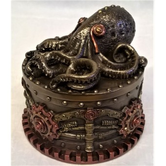 NEMESIS NOW STEAMPUNK TRINKET BOX - BOXTOPUS