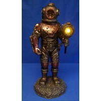 NEMESIS NOW STEAMPUNK LAMP – MARINER'S DESCENT DEEP SEA DIVER