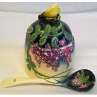OLD TUPTON WARE WISTERIA HONEY JAR & SPOON SET