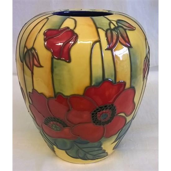 Old Tupton Ware Yellow Poppy 145cm Vase 1687 5050337016873