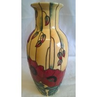OLD TUPTON WARE YELLOW POPPY 23cm VASE