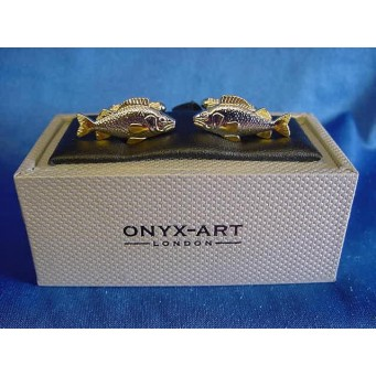 ONYX-ART CUFFLINK SET - FISH