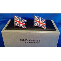 ONYX-ART CUFFLINK SET - UNION JACK BRITISH FLAG