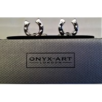 ONYX-ART CUFFLINK SET - HORSESHOES