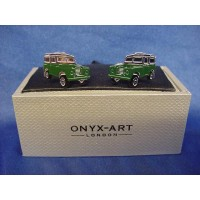 ONYX-ART CUFFLINK SET - LAND ROVER