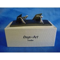 ONYX-ART CUFFLINK SET - MORTAR BOARD