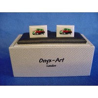 ONYX-ART CUFFLINK SET - RED MINI COOPER