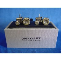 ONYX-ART CUFFLINK SET - TRACTOR BURNISHED SILVER