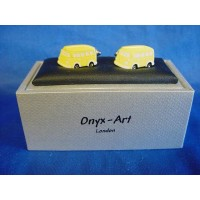 ONYX-ART CUFFLINK SET - VW CAMPER LEMON YELLOW