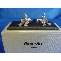 ONYX-ART CUFFLINK SET - WITCH ON A BROOMSTICK